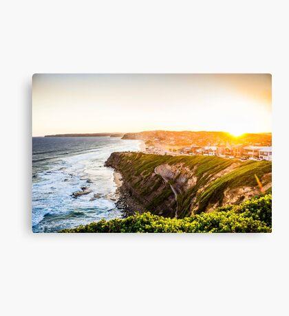 Bar Beach Sunset Canvas Print