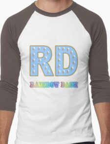 My little Pony - Initials Rainbow Dash - Black Men's Baseball ¾ T-Shirt