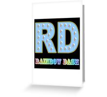 My little Pony - Initials Rainbow Dash - Black Greeting Card