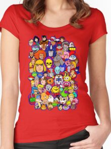 saturday morning collage Women's Fitted Scoop T-Shirt