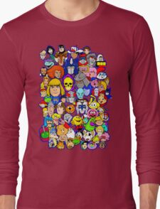 saturday morning collage Long Sleeve T-Shirt