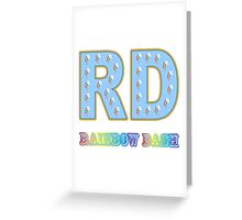 My little Pony - Initials Rainbow Dash - White Greeting Card