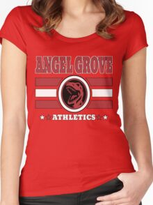 Angel Grove Athletics - Red Women's Fitted Scoop T-Shirt