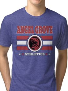 Angel Grove Athletics - Red Tri-blend T-Shirt