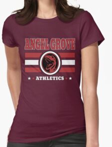 Angel Grove Athletics - Red Womens Fitted T-Shirt