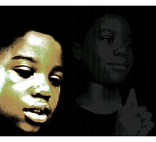 Troubled Boy Photographic Print