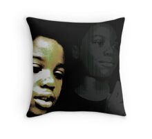 Troubled Boy Throw Pillow