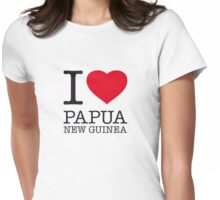 I ♥ PAPUA NEW GUINEA Womens Fitted T-Shirt