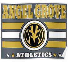 Angel Grove Athletics - White Poster