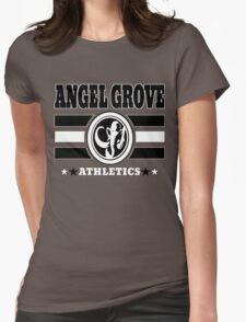Angel Grove Athletics - Black Womens Fitted T-Shirt