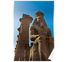 Egypt. Luxor. Luxor Temple. Colossal Statue of Ramesses II. Poster