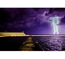 Lightning at the Ocean Baths Photographic Print