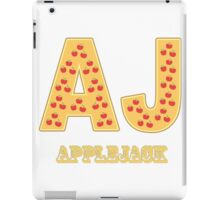 My little Pony - Initials Applejack- White iPad Case/Skin