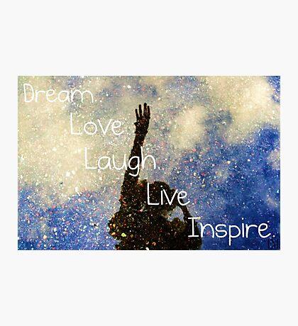 Inspire. Photographic Print