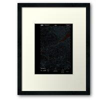 USGS Topo Map Oregon Green Peter 20110816 TM Inverted Framed Print