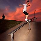 Sunset Feeble Grind by joel Durbridge