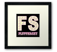 My little Pony - Initials Fluttershy - Black Framed Print