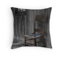 Old chair Throw Pillow