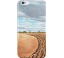 Ploughed Field, Shropshire - watercolour iPhone Case/Skin