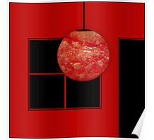 Red bubble room Poster