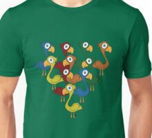 A fabulous feathered flock Unisex T-Shirt