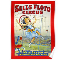 Sells Floto Circus M'lle Beeson High Wire vintage poster Poster