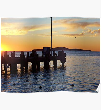 Sunset at Lancelin Poster