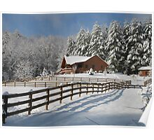 Cabin in the Snow Poster
