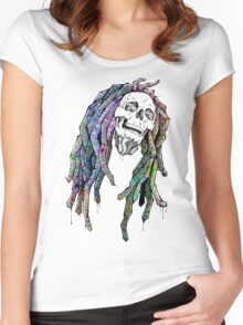 Dead King - Bob Marley Women's Fitted Scoop T-Shirt