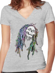 Dead King - Bob Marley Women's Fitted V-Neck T-Shirt