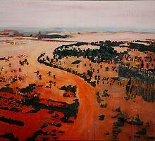 Pakistan flood landscape by Cecilie Hole