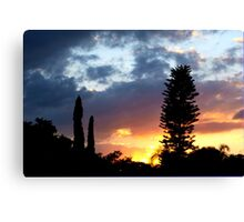 Sunset on my street Canvas Print