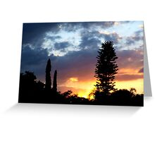 Sunset on my street Greeting Card