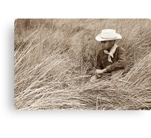 Young Cowboy in the Dunes Canvas Print