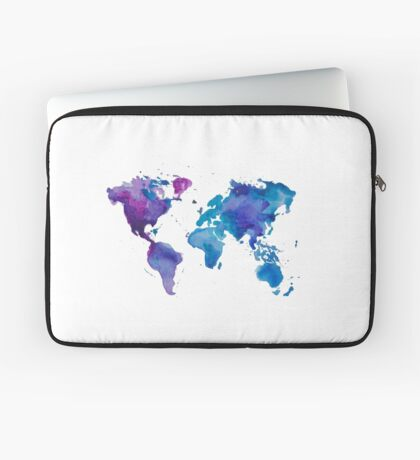Watercolor Map of the World Laptop Sleeve