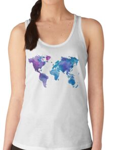 Watercolor Map of the World Women's Tank Top
