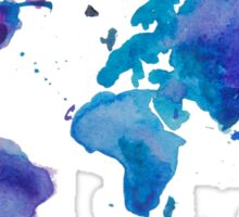 Watercolor Map of the World (t-shirt) Sticker