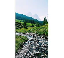 Creek on Mountain Photographic Print