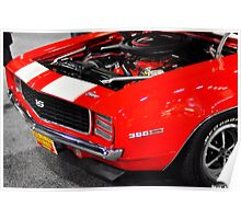 Hot Rod Red 1969 Camaro SS Poster