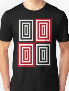 Trippy red & black squared pattern Unisex T-Shirt