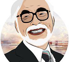 Hayao Miyazaki by theboilerman