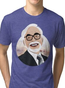 Hayao Miyazaki Tri-blend T-Shirt