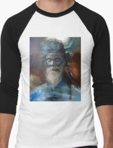 Claire Reid Aboriginal Shaman Healer Spirit Guide Men's Baseball ¾ T-Shirt