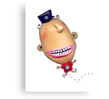 wacky bouncing happy guy Canvas Print