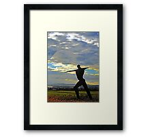 The Wicker Man, otherwise known as The Willow Man of Somerset Framed Print