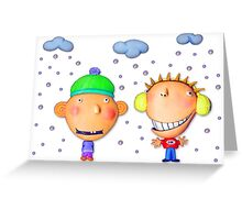 friends in winter Greeting Card