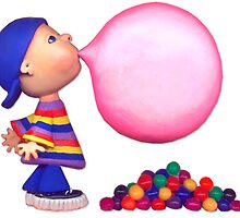 blowing a bubble by claygirrl