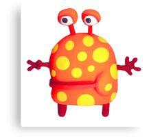 polka dot monster Canvas Print