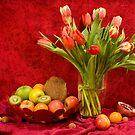 Still life in red by Miroslava Balazova Lazarova