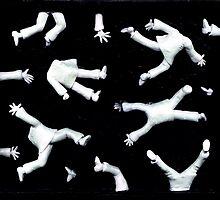 men free falling by claygirrl
